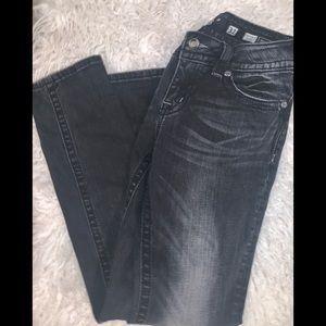 Black distressed skinny denim jeans 31 miss me